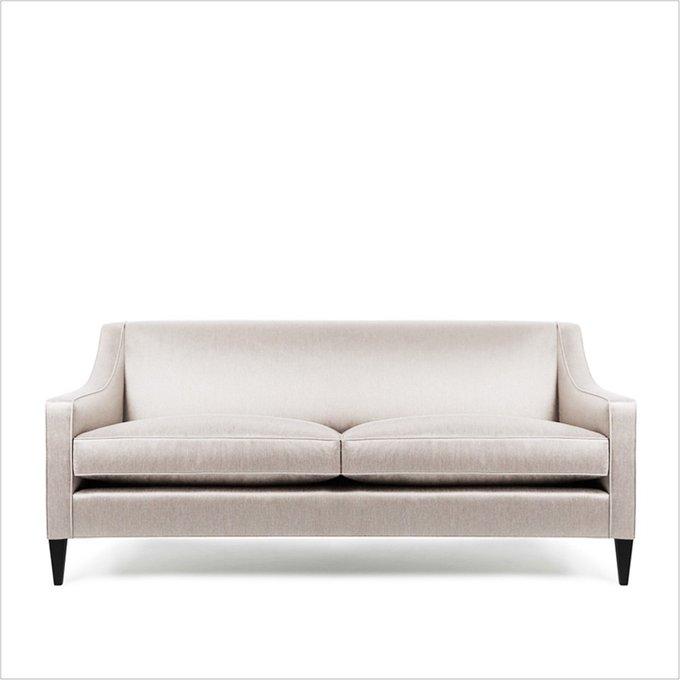 Диван Valerie 2 seat sofa со светлой обивкой