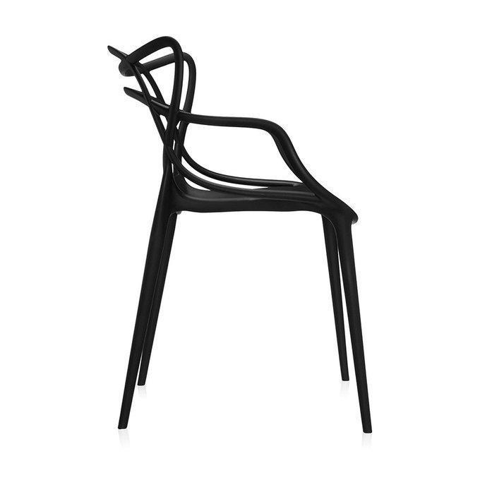 Кресло Kartell Masters из термопластика черного цвета