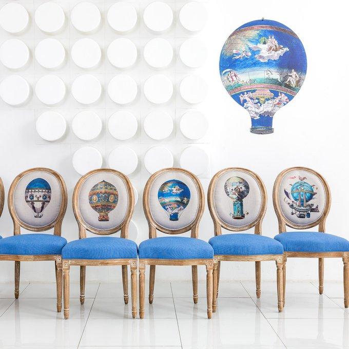 Стул Флесселле с сиденьем и спинкой синего цвета