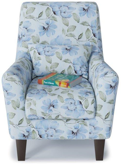 Кресло Либерти Флау голубого цвета