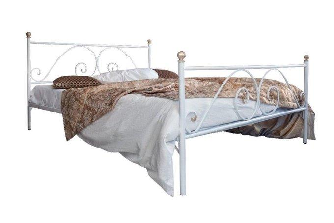 Кованая кровать Анталия 1.4 с двумя спинками 140х200
