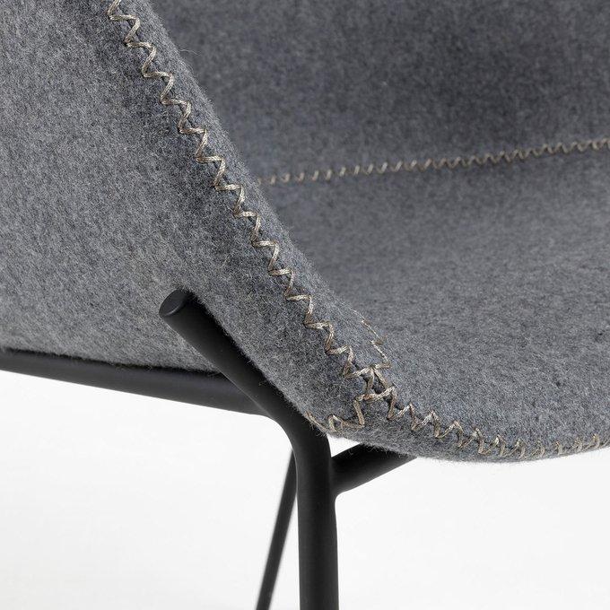 Барный стул Zadine серого цвета