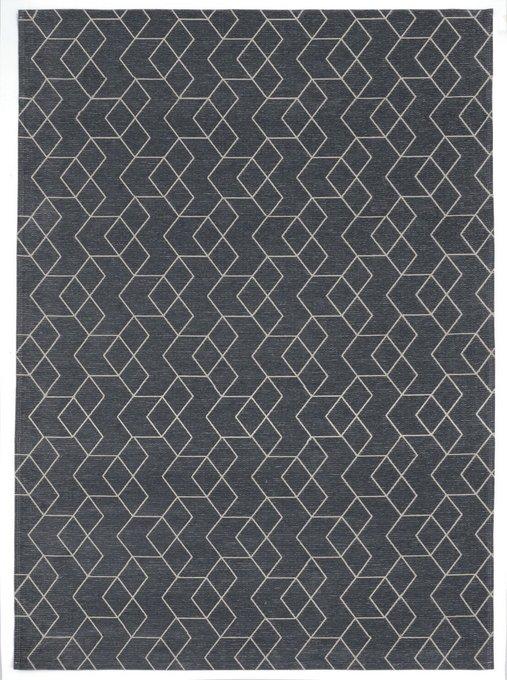 Ковер Cube темно-серого цвета 160х230
