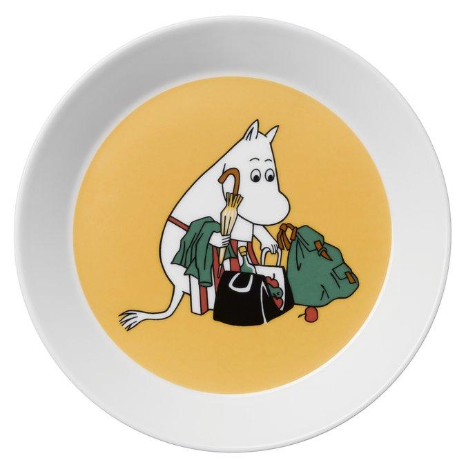 Тарелка Муми-мама абрикосовая из фарфора