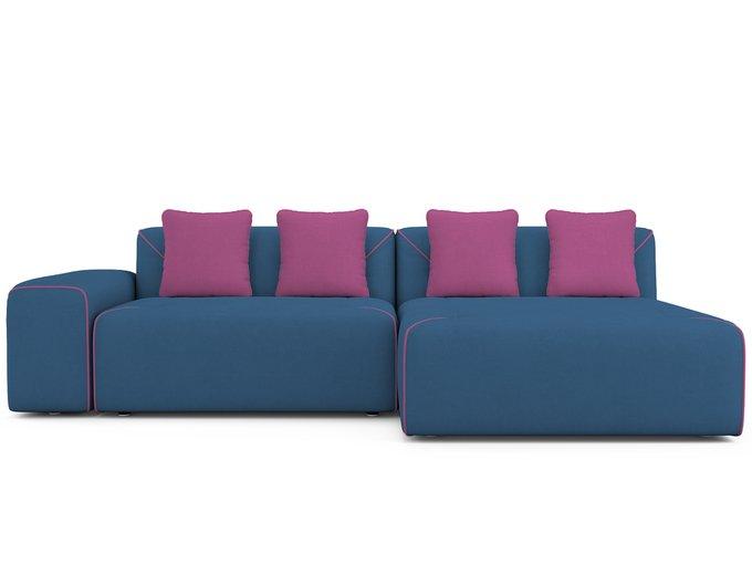 Угловой Диван-кровать Portu правый синего цвета