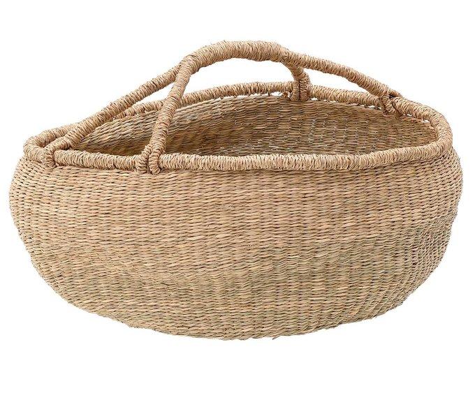 Плетеная корзина из морской травы