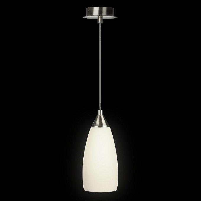 Подвесной светильник с матовым плафоном белого цвета