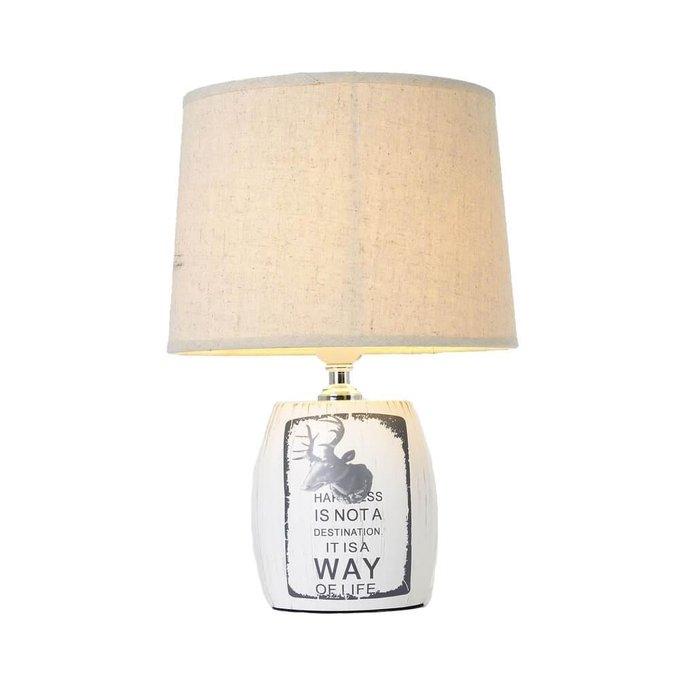 Настольная лампа Адель бежевого цвета