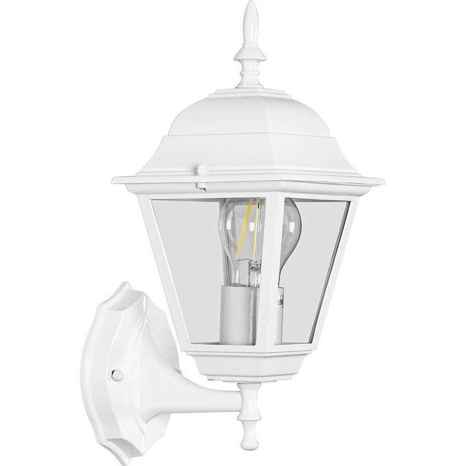 Уличный настенный светильник белого цвета