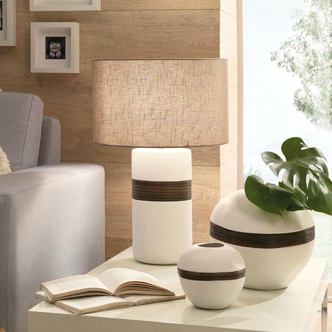 """Лампа с деревянным декором Loca Nera """"Wooden Cylinder"""""""