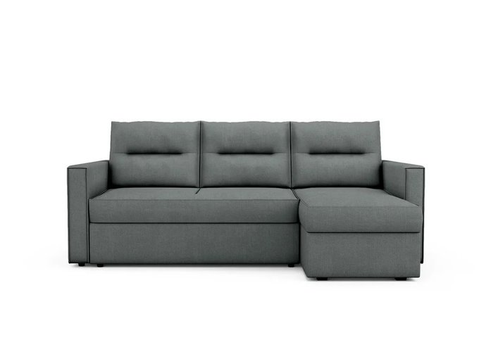 Угловой Диван-кровать Macao правый темно-серого цвета