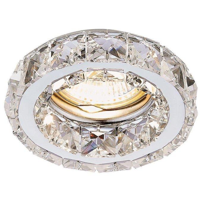 Встраиваемый светильник Crystal из металла и хрусталя