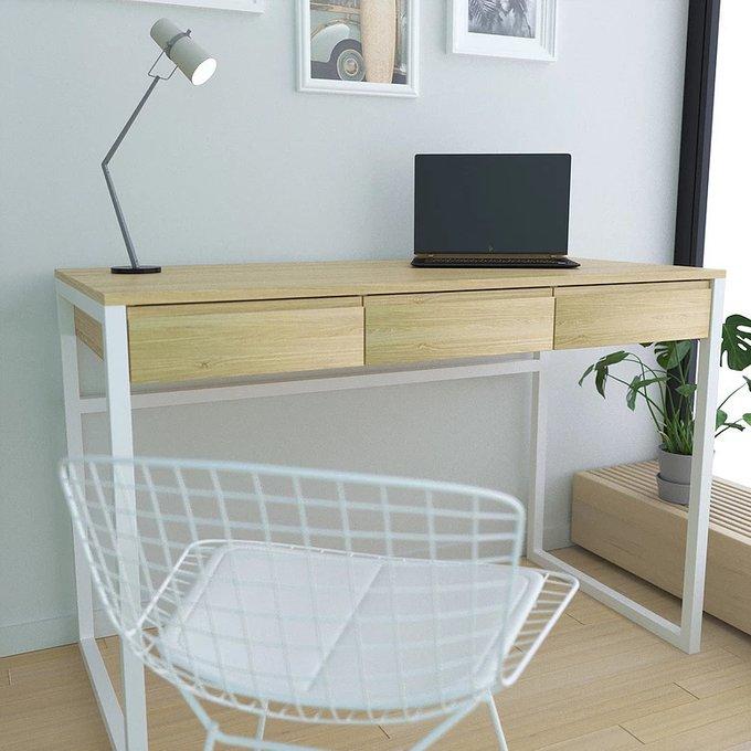 Письменный стол Dylan white с тремя выдвижными ящиками