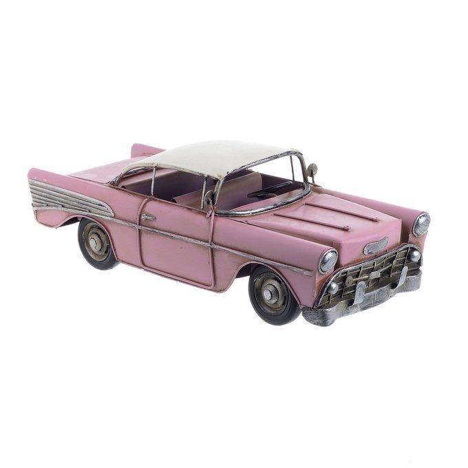 Декоративная машина ретро автомобиль розового цвета
