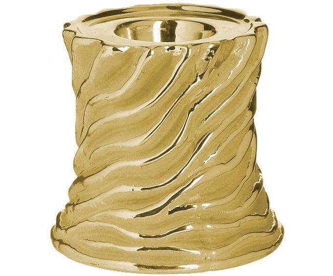 Керамический подсвечник золотого цвета