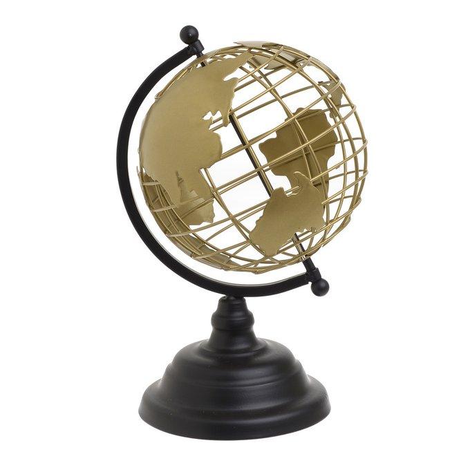 Декор настольный Глобус черно-золотого цвета