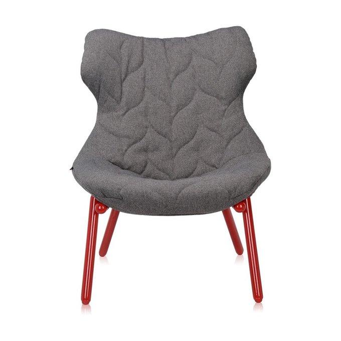 Кресло Foliage серого цвета