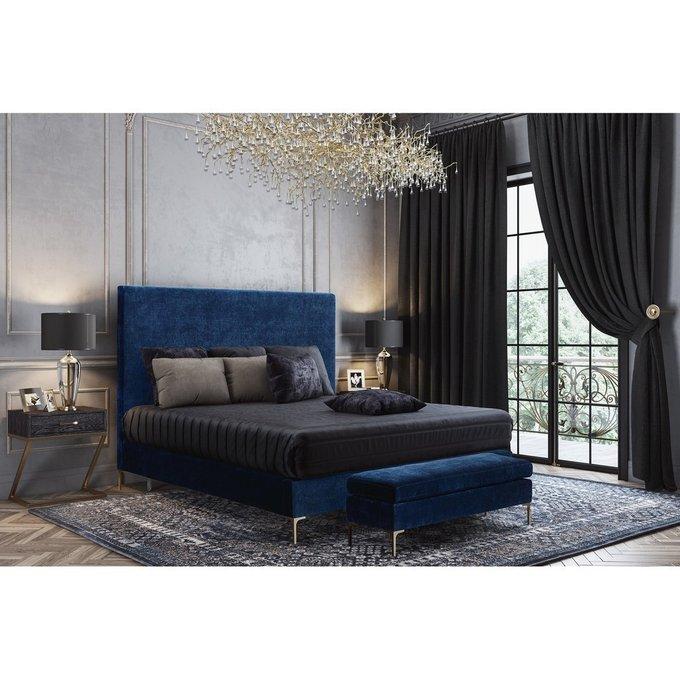 Кровать Mark 160х200 синего цвета