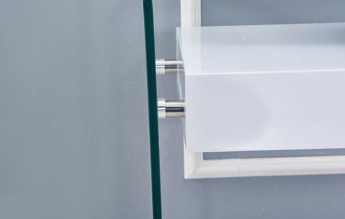 Консоль с ящиком белого цвета