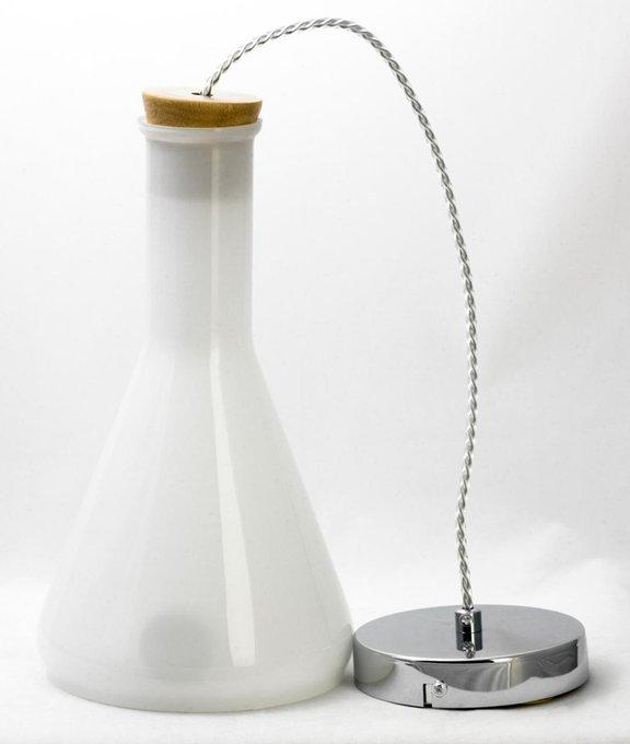 Подвесной светильник Loft с белым плафоном