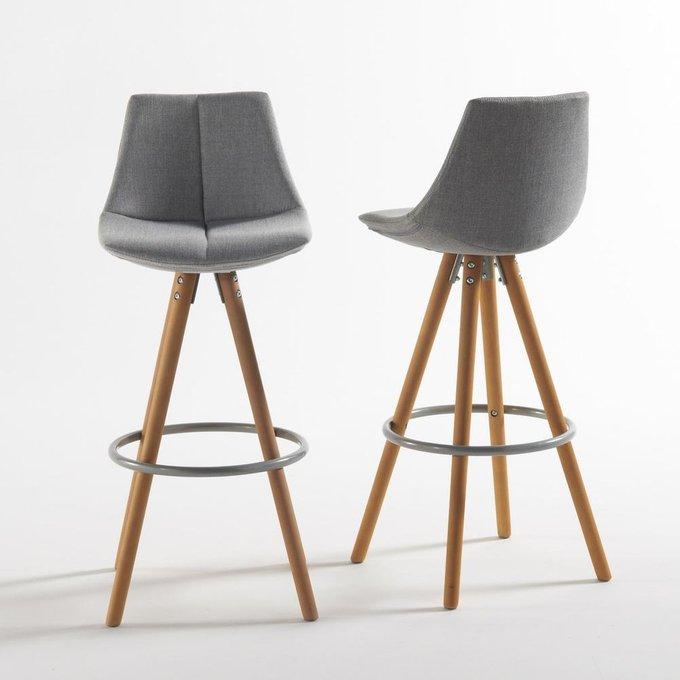 Комплект из двух барных стульев Asting серого цвета