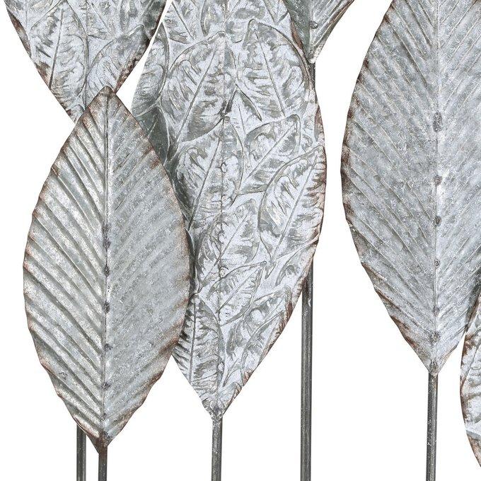 Декор настенный из металла серебристого цвета