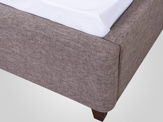 Кровать с мягким изголовьем коричневого цвета 180X200
