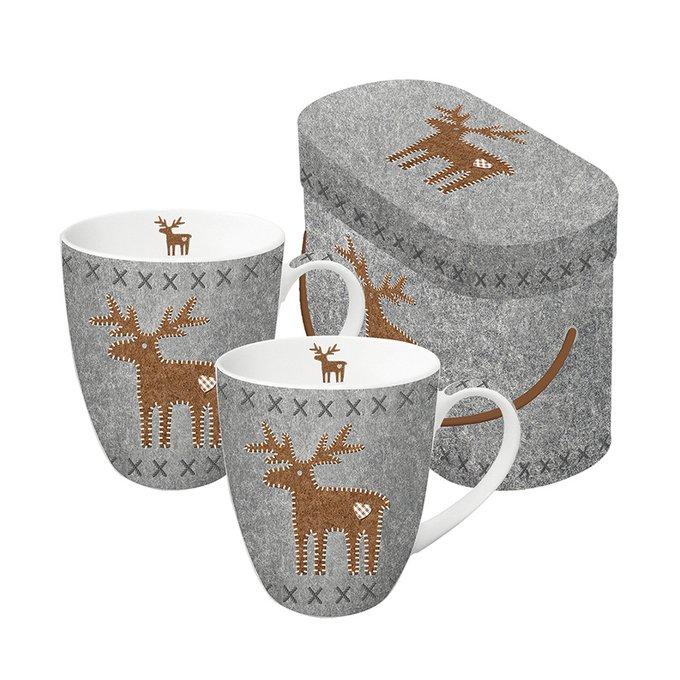Набор кружек в подарочной упаковке felt reindeer 350 мл