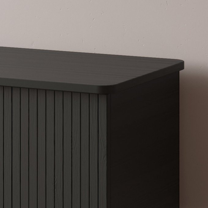 Комод Viva 4 - 100 с двумя дверцами черного цвета