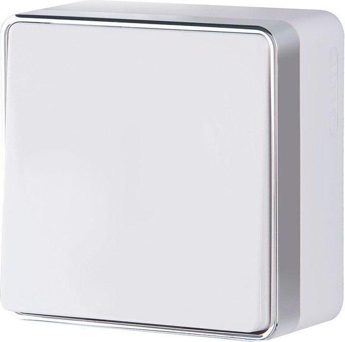 Выключатель одноклавишный Gallant белого цвета