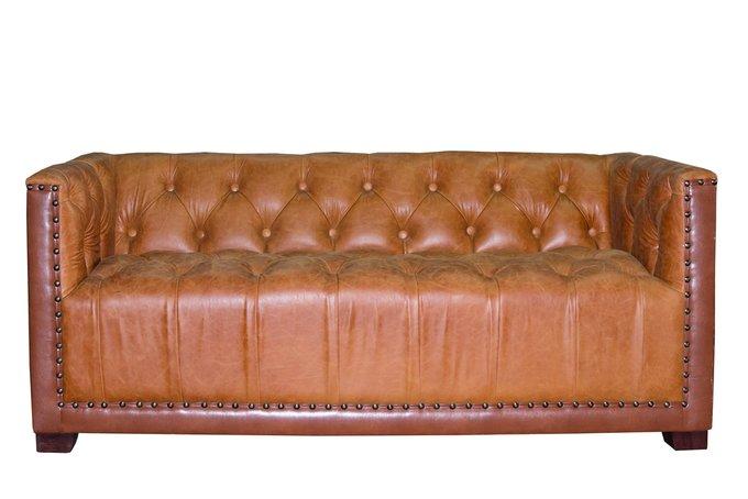 Двухместный диван Contatto коричневого цвета