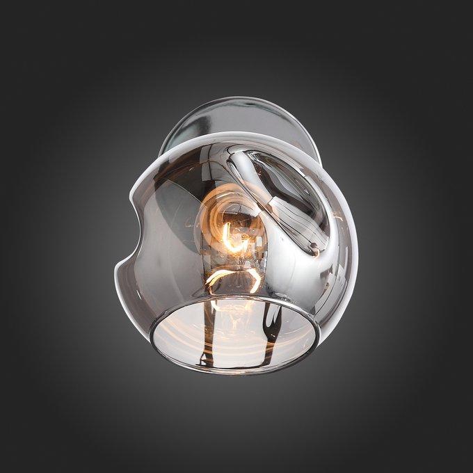 Светильник настенный Gentore с дымчатым плафоном
