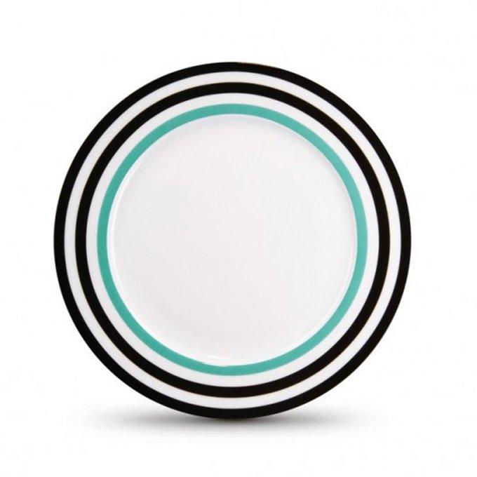 Фарфоровая тарелка black lines
