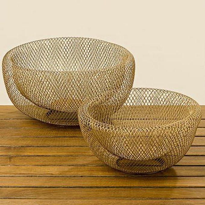 Набор из двух ваз Seoul из тонкой металлической сетки