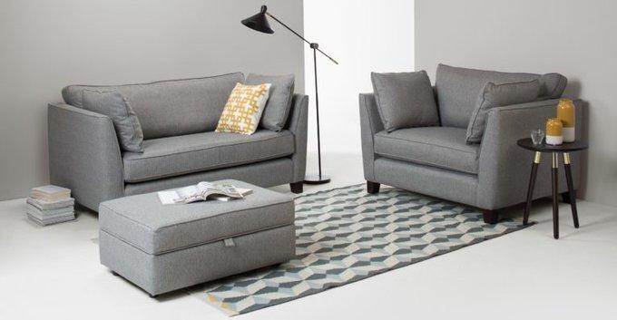 Трехместный раскладной диван Wolsly светло-серый