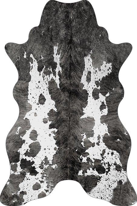 Ковер черно-белого цвета 60х100 см