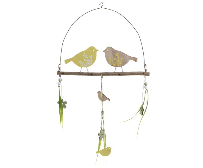 Подвесной декор с птичками