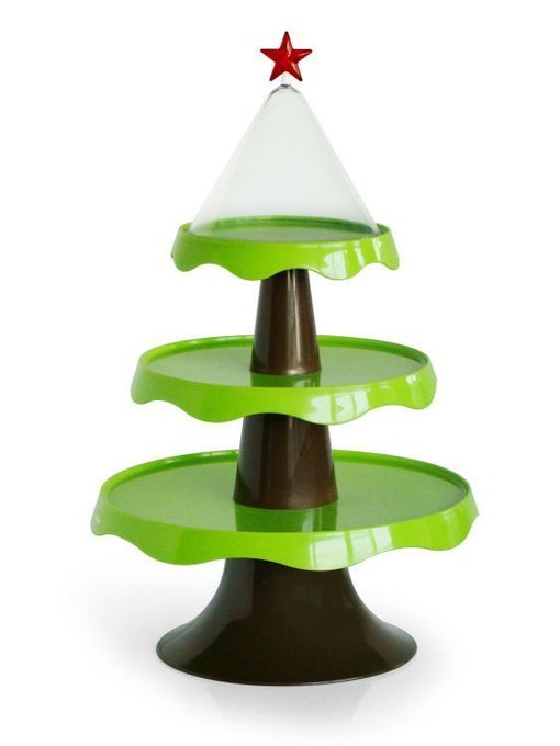 Этажерка подарочная Qualy merry tree зеленая