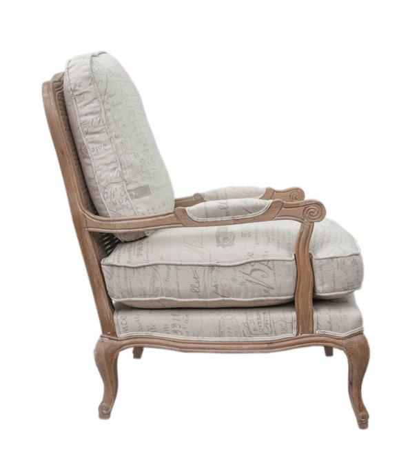 Кресло Nitro rattan print бежевого цвета