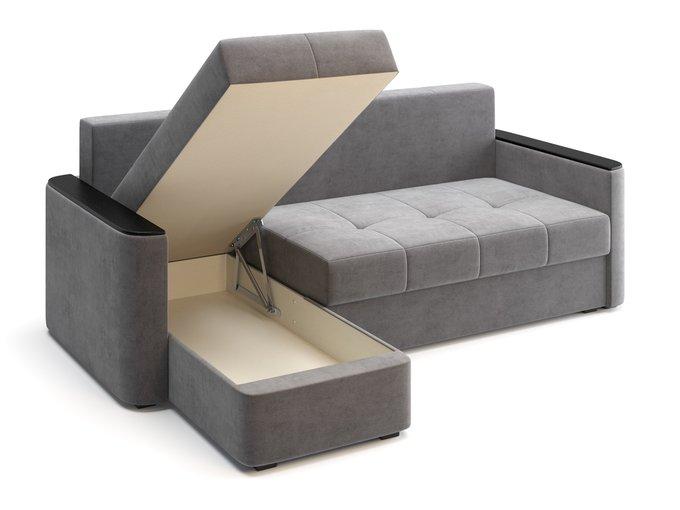 Диван-кровать угловой Юджин серого цвета