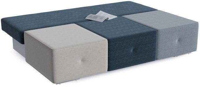 Диван-кровать Хавьер Sky с обивкой из разноцветного велюра