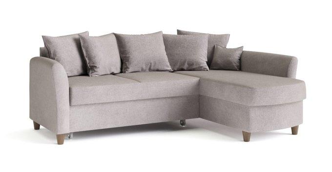 Угловой диван-кровать Катарина серого цвета