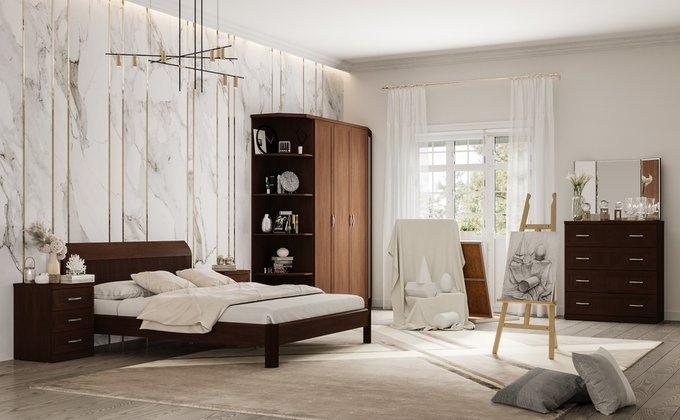 Кровать Магна 160х200 темно-коричневого цвета