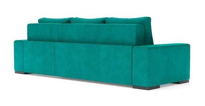 Угловой диван-кровать Матиас бирюзового цвета