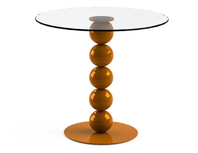 """Обеденный стол """"BLINTER Orange"""" со столешницей из закаленного стекла"""