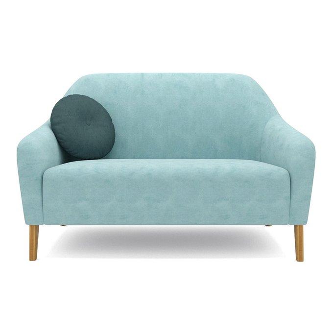 Двухместный диван Miami lux голубого цвета