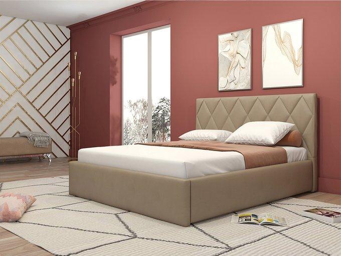 Кровать Миа бежевого цвета 160х200