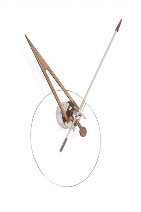 Настенные часы Cris из массива ореха и стали