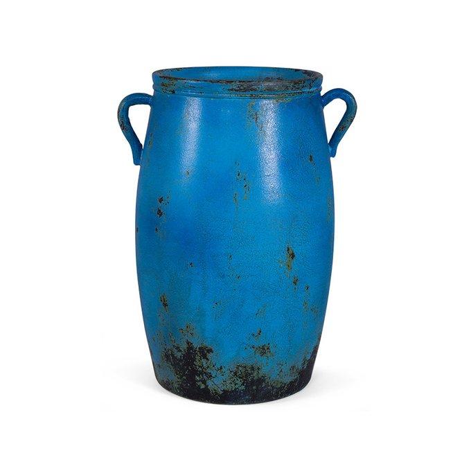 Ваза напольная Blumengen синего цвета