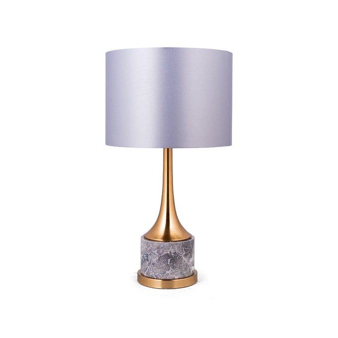 Лампа настольная Lenient серо-золотого цвета